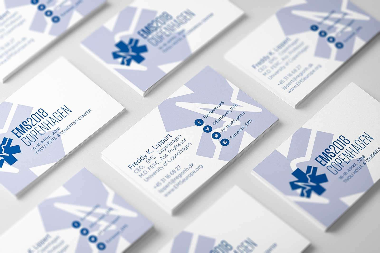 EMS Europe business cards