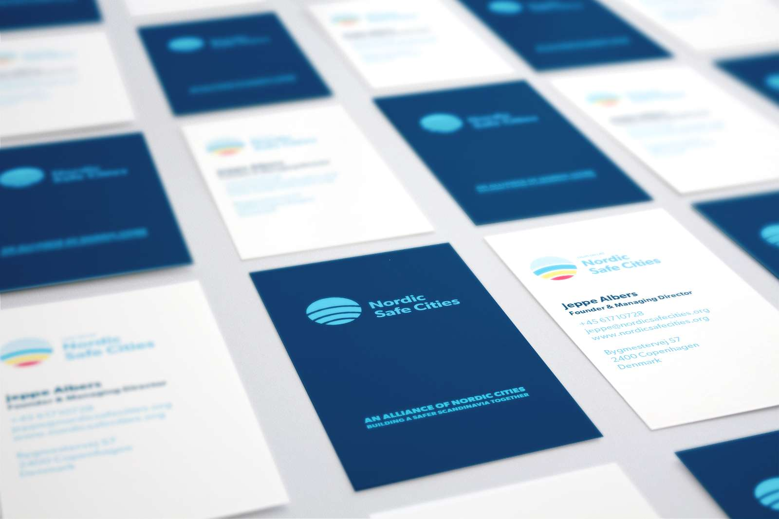 Nordic Safe Cities business cards