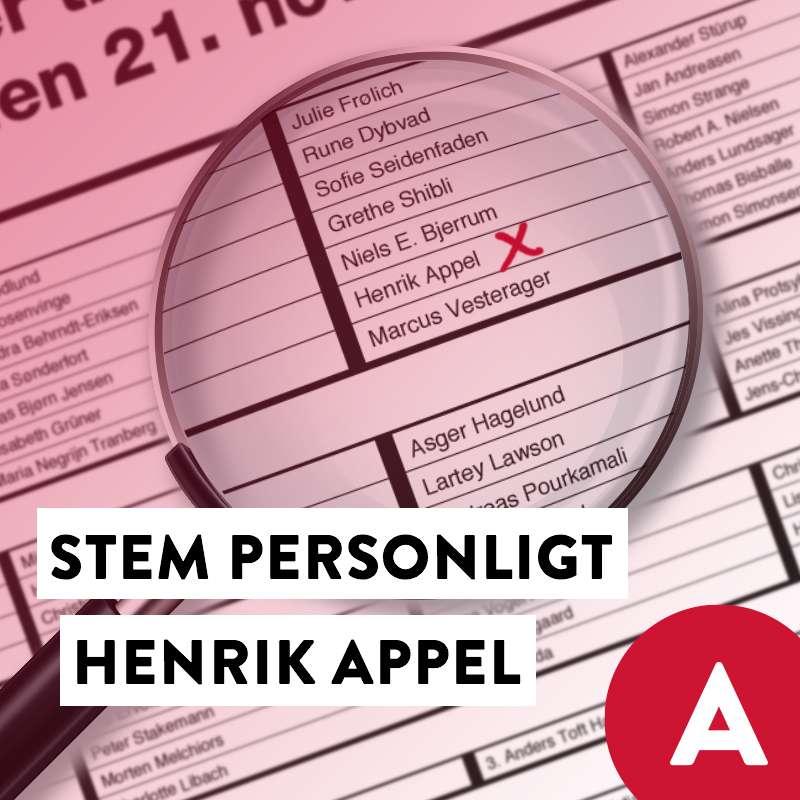 Stem Henrik Appel Social Media image with ballot