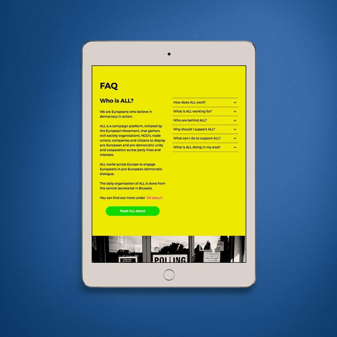 ALL for Democracy iPad