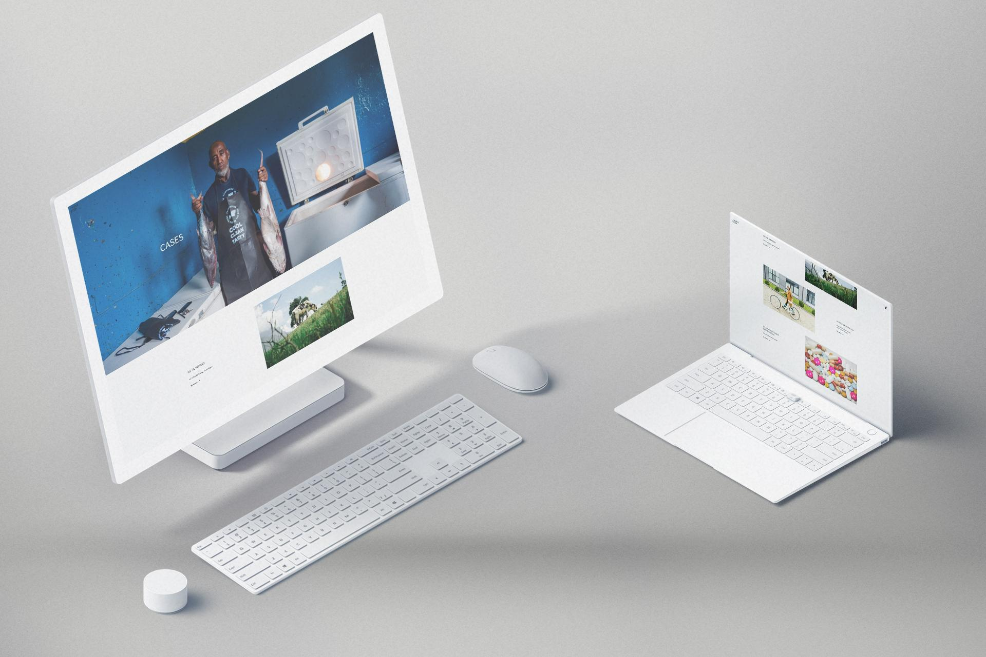 Nextstep website displayed on Surface Studio and Matebook X Pro.